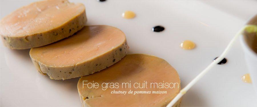 Foie gras mi cuit maison